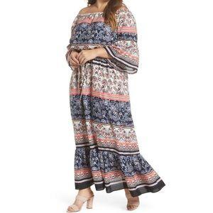 Eliza J Off The Shoulder Casual Maxi Dress Size 12